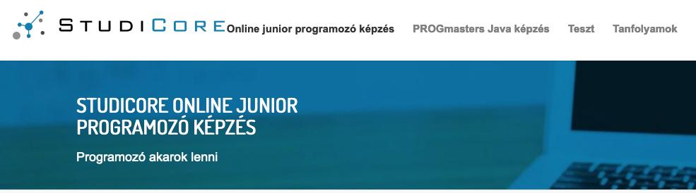 online junior programozó tanfolyam